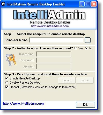 Mais ferramenta gratuita habilitando desabilitando o remote desktop remotamente com o remote - Remote desktop console mode ...